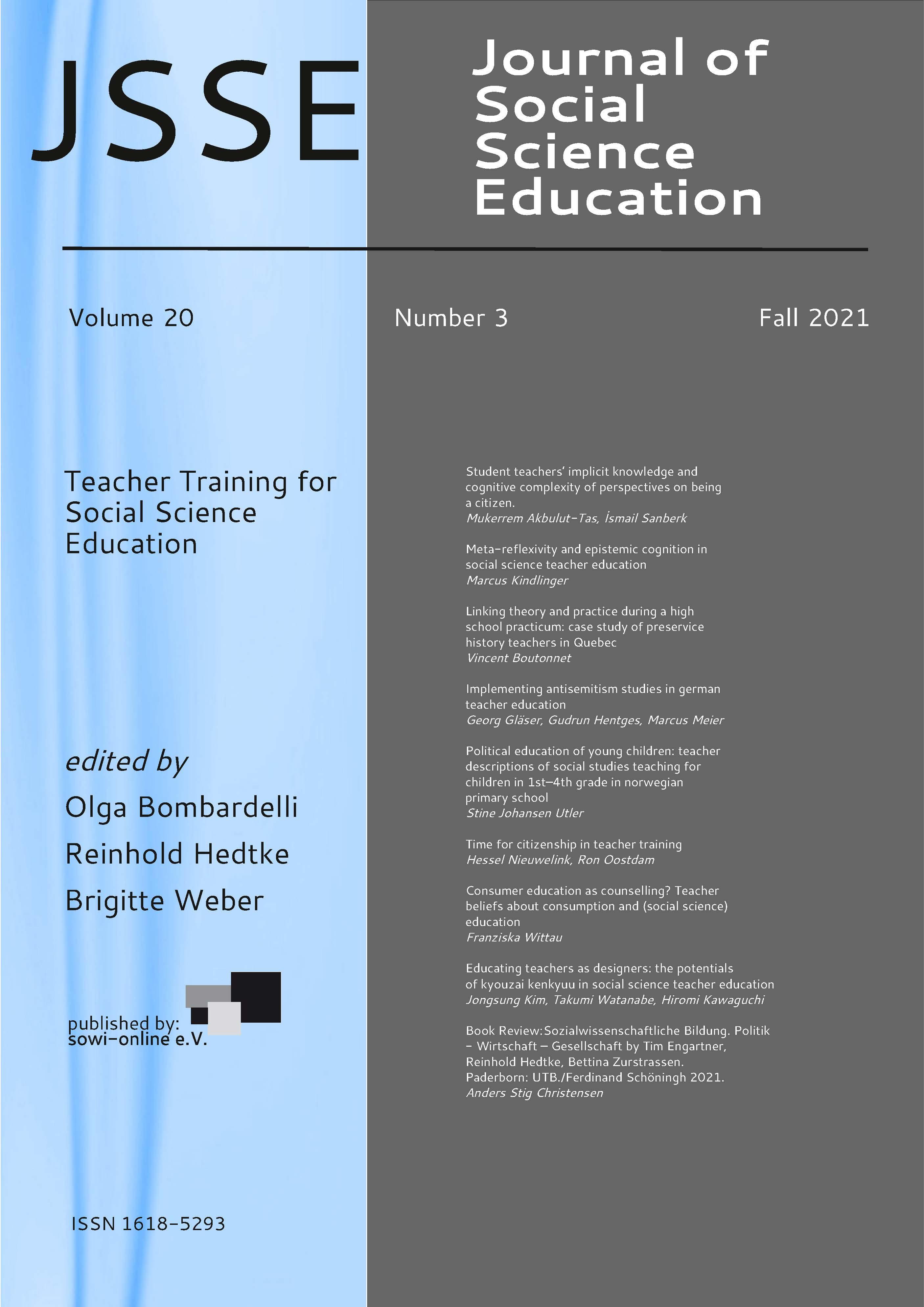 View Vol. 20 No. 3 (2021): Teacher training
